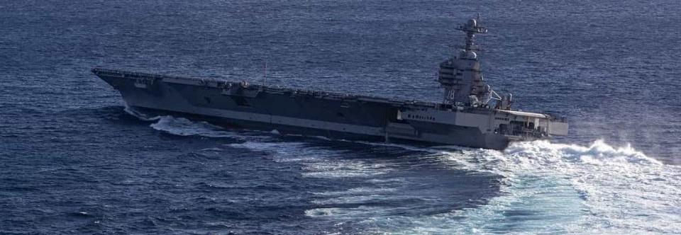 ВМФ США показали швидкісні повороти нового авіаносця