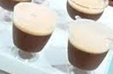 Resep praktis (mudah) es susu puding coklat spesial (istimewa) enak, legit nikmat