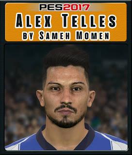 PES 2017 Faces Alex Telles by Sameh Momen