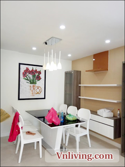 Dinner area at Lexington Residence An phu apartment 3 bedrooms for rent