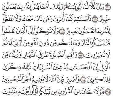 Tafsir Surat Hud Ayat 111, 112, 113, 114, 115