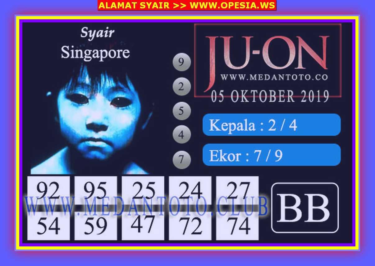 Kode syair Singapore Sabtu 5 Oktober 2019 64