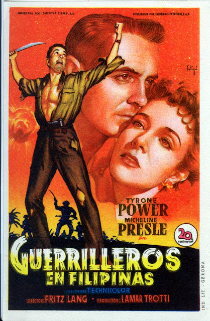 Programa de Cine - Guerrilleros en Filipinas - Tyrone Power - Micheline Presle
