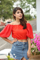 Rhea Chakraborty in Red Crop Top and Denim Shorts Spicy Pics ~  Exclusive 063.JPG