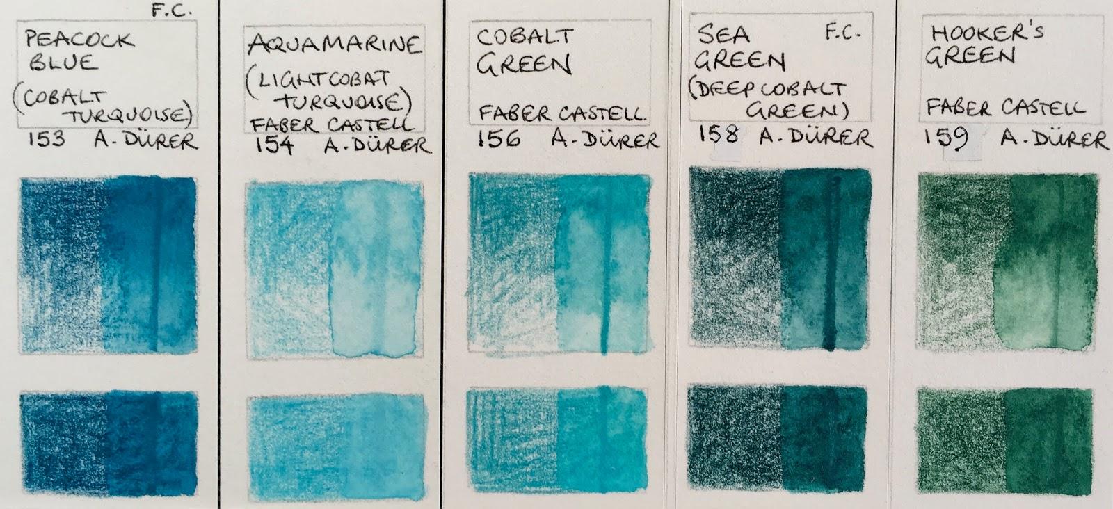Faber Castell Albrecht Durer Watercolour Pencil Deep Cobalt Green