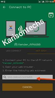 xender transfer address