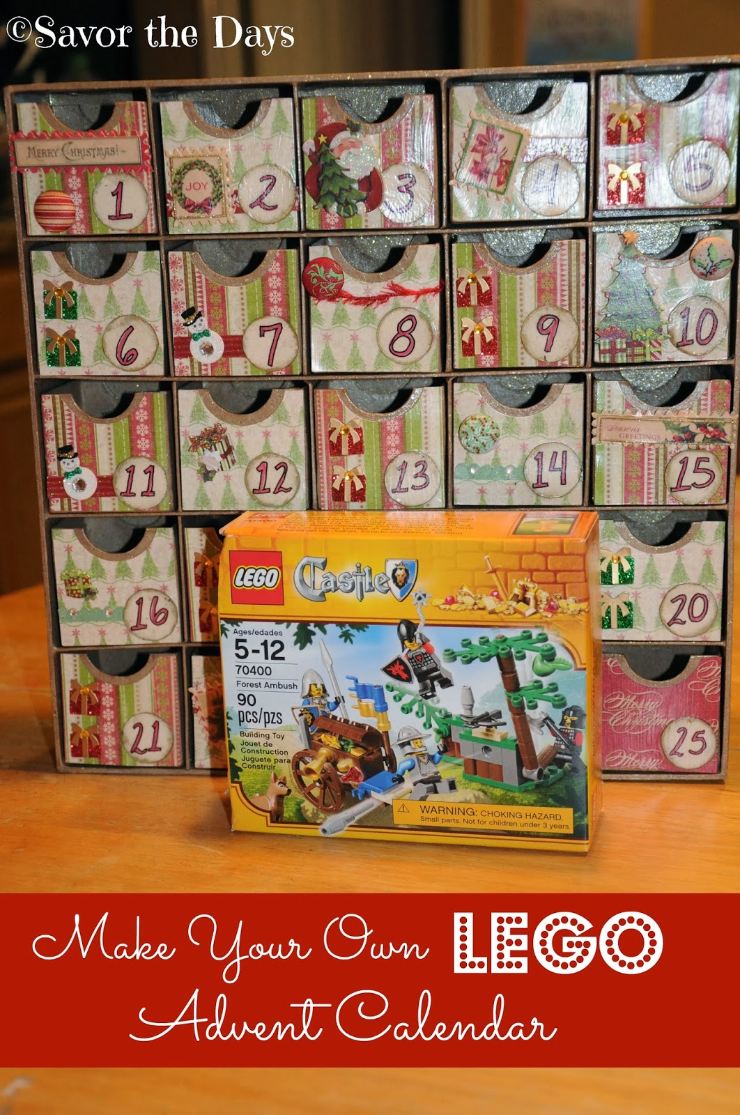 Make Your Right Connection Today Top 10: Savor The Days: Make Your Own LEGO Advent Calendar {LEGO