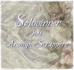 Jeg ble en Sølvvinner på utfordring #20 hos Anonyme Scrappere.