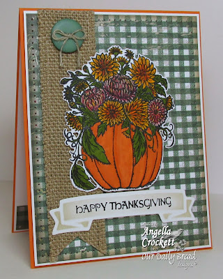 ODBD Fall Flower Pumpkin, ODBD Custom Pumpkin and Flowers Die, ODBD Christmas Paper Collection 2013, Card Designer Angie Crockett