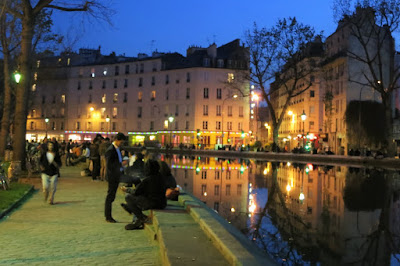 The Canal Saint Martin in the evening, Paris
