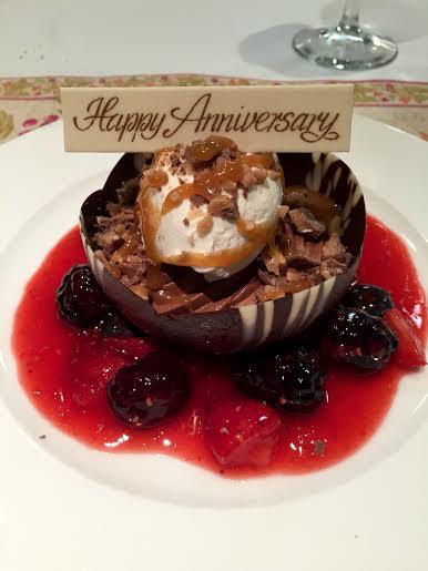 chocolate dessert anniversary