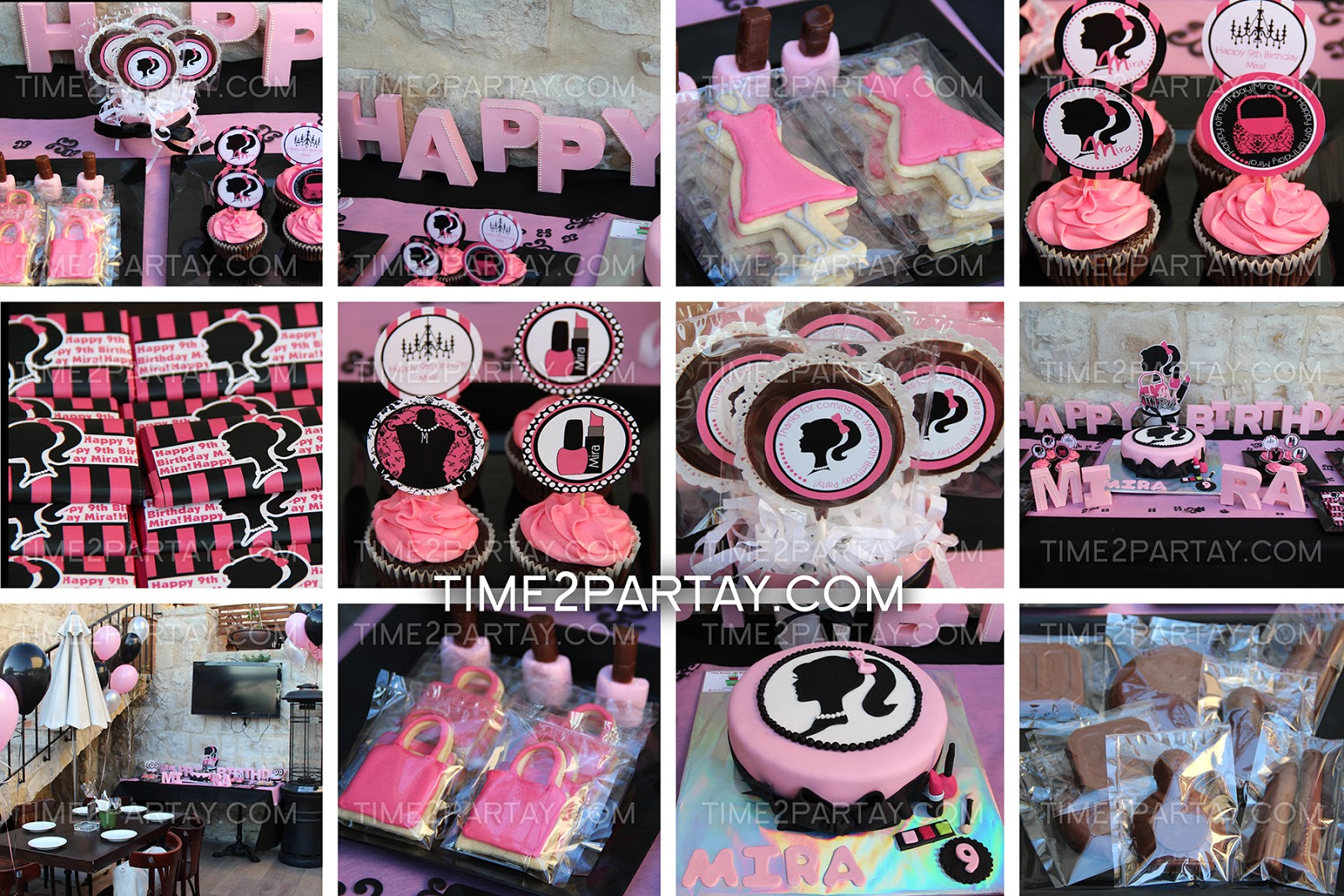 A Fashion Makeup Themed Birthday Party