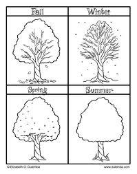 En Iyi Koleksiyon Mevsimler Boyama Okul öncesi Yazdırılabilir