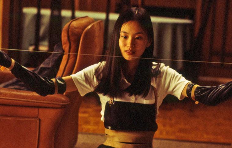 Asami (Eihi Shiina) und ihr scharfer Draht in AUDITION (1999) von Takashi Miike