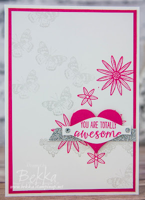 Team Congratulations card featuring Grateful Bunch Stamps from Stampin' Up! UK and an unusual use for the Bow Builder Punch - check it out here
