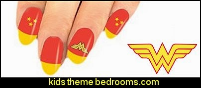 Wonder Woman nail stickers- Wonder Woman nail art