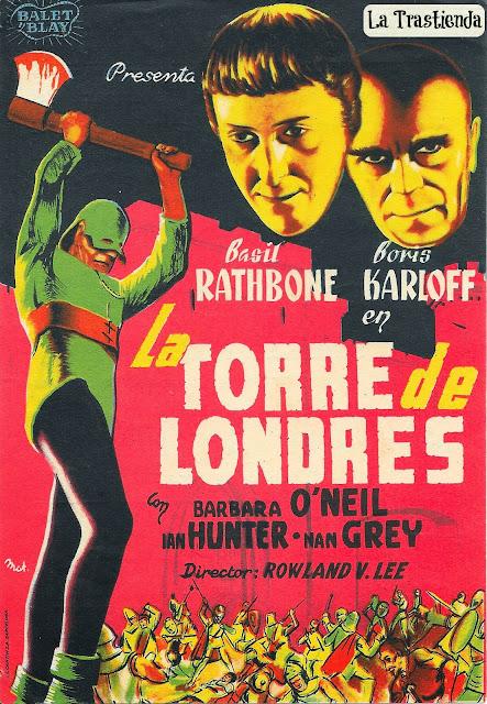 Programa de Cine - La Torre de Londres - Basil Rathbone - Boris Karloff