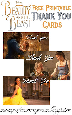 beauty and the beast 2017 thank you cards