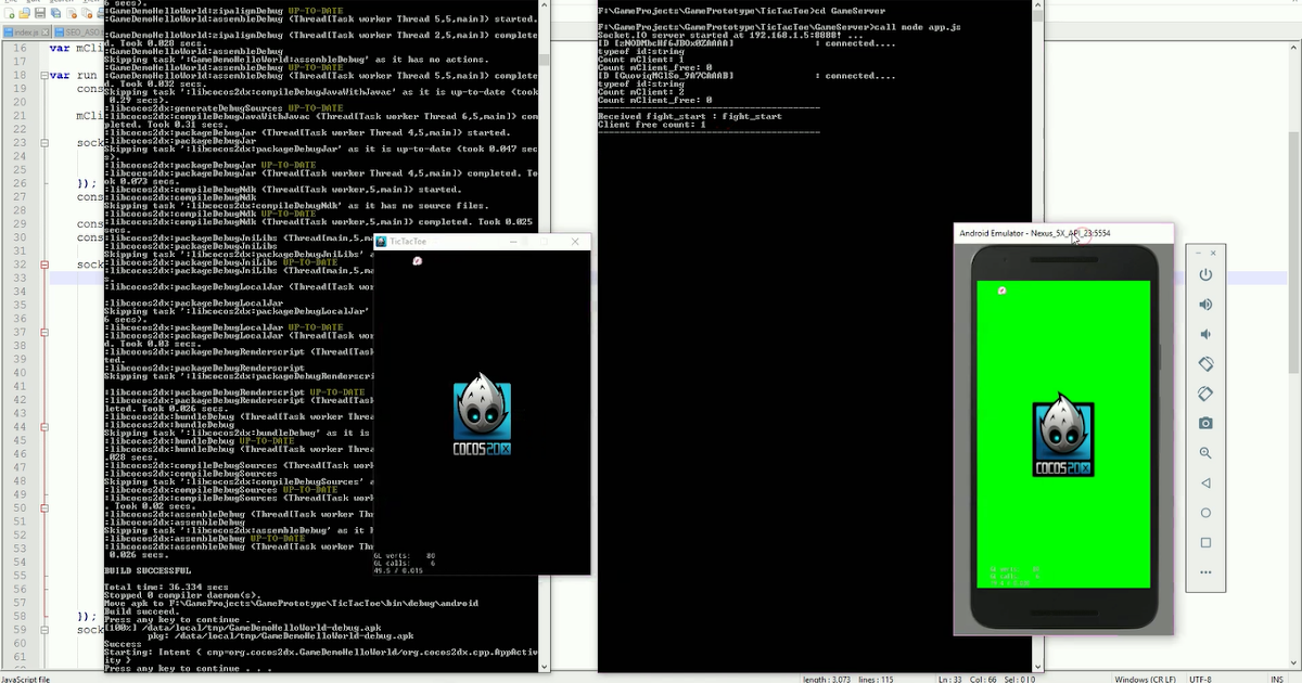 Socket Android Client to PC Server NodeJS