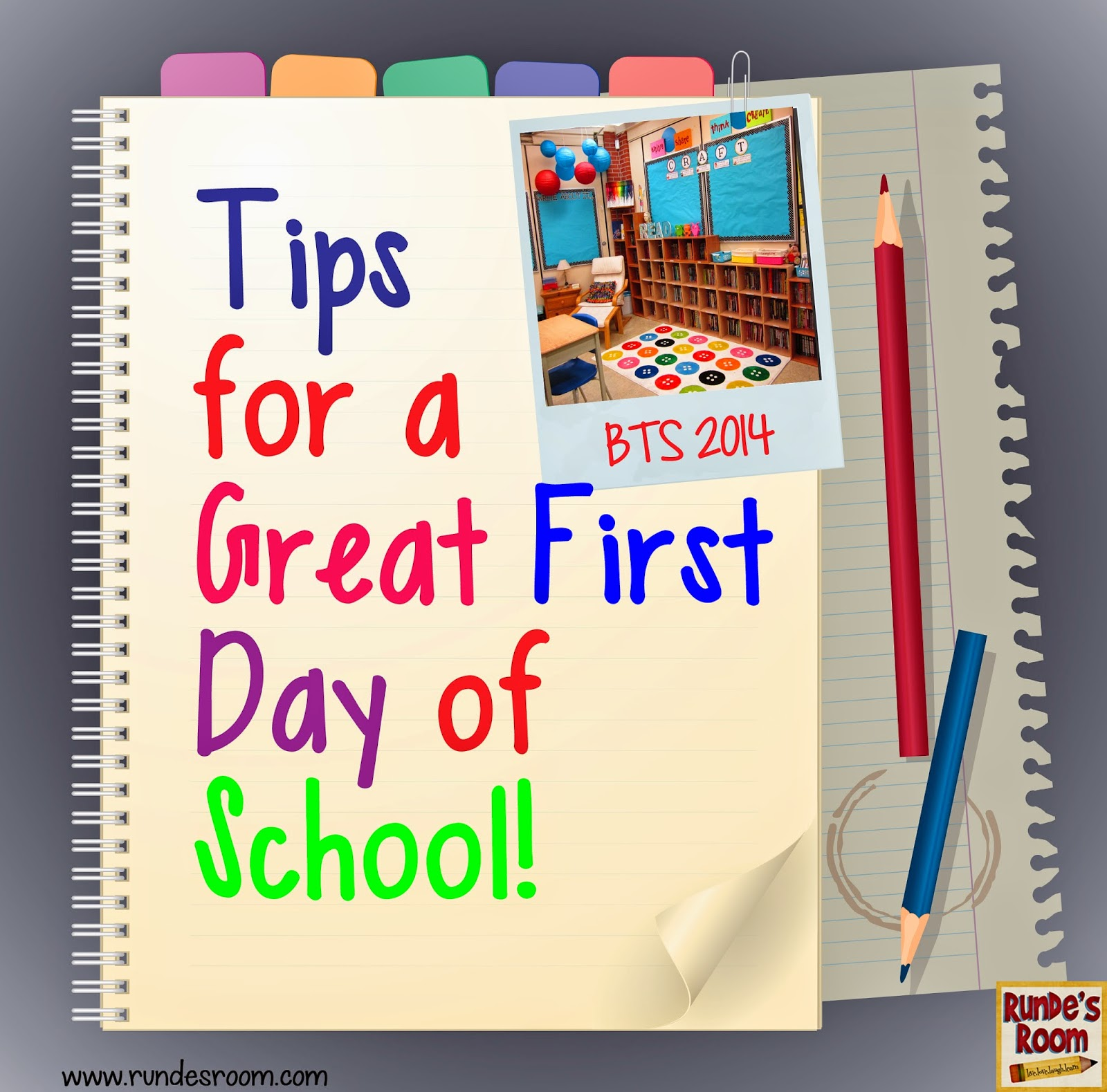 Runde's Room: Hook Them From The First Day ... Tips For