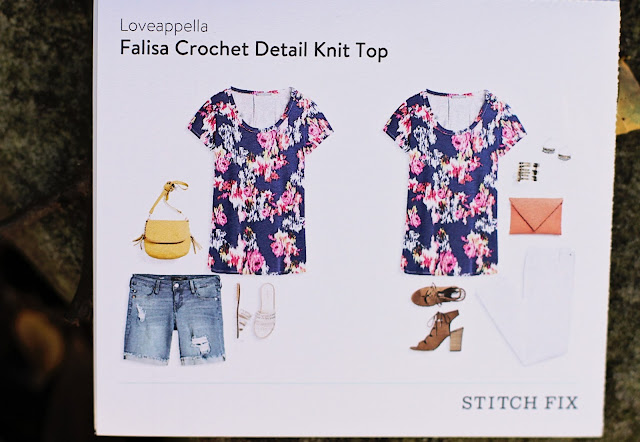 Stitch Fix Loveappella Falisa Crochet Detail Knit Top