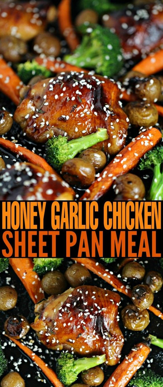 HONEY GARLIC CHICKEN SHEET PAN MEAL