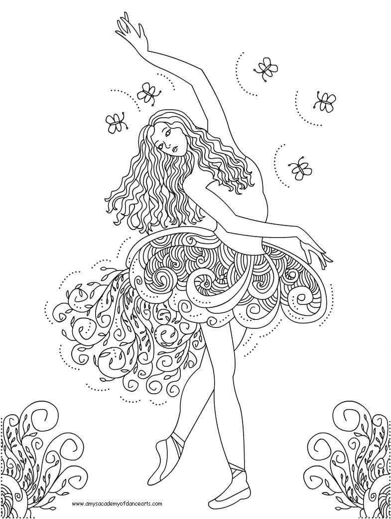 Dancing and singing barbie coloring pages for Printable dance coloring pages