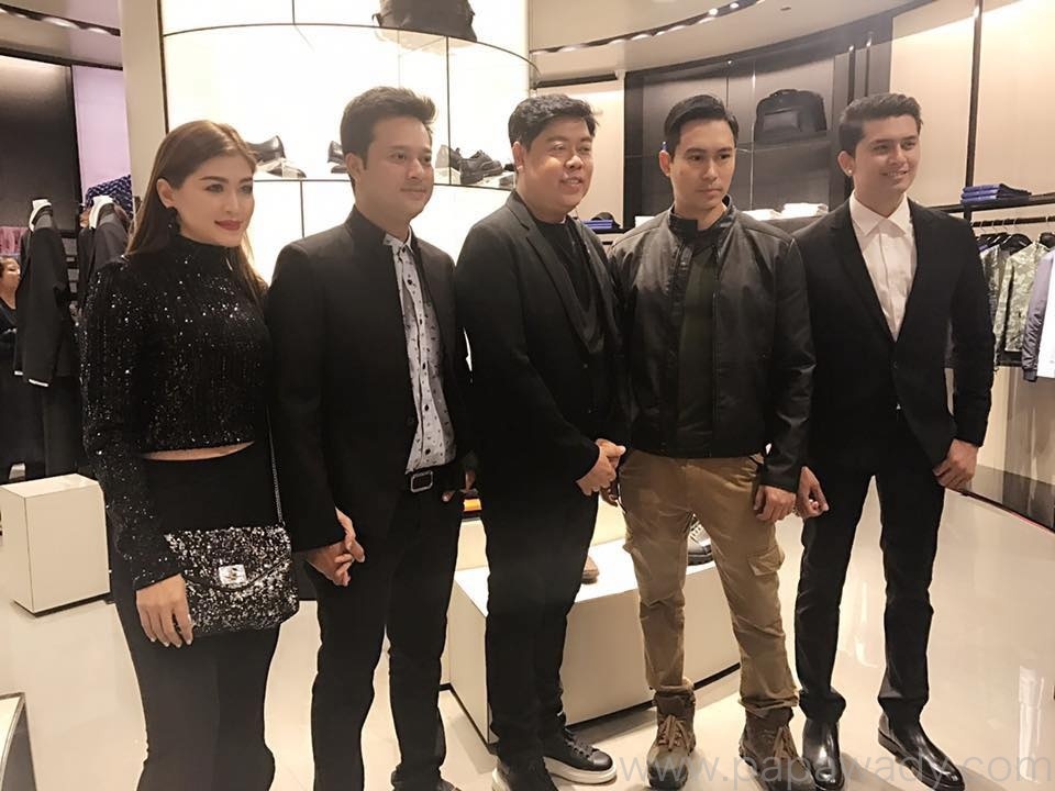 Nay Toe , Pyay Ti Oo , Nine Nine and Eaindra Kyaw Zin At Armani Fashion Shop Opening