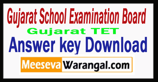 Gujarat TET Answer key 2018 Download