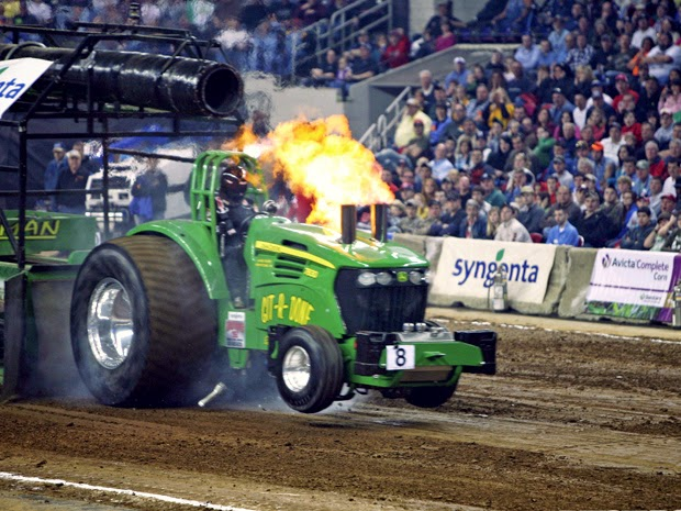 Tractor Pulls and Bicycle Racing