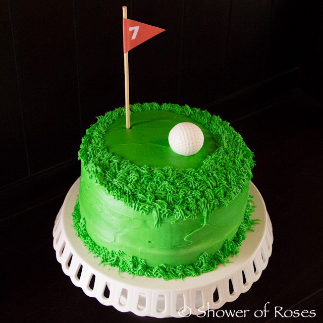 Astounding Shower Of Roses Golf Birthday Cake Personalised Birthday Cards Arneslily Jamesorg