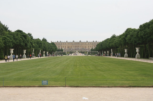 Looking back at the palace from the gardens