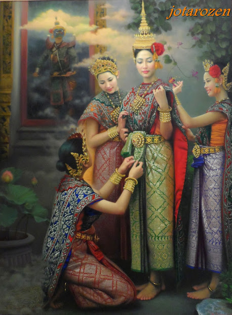 Thai Art Oil Painting