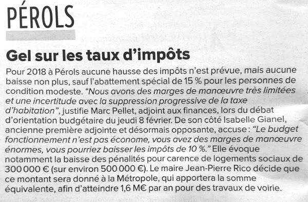 Impôts 2018 à Pérols