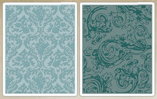 Sizzix Texture Fades Embossing Folders - Damask & Regal Flourish Set