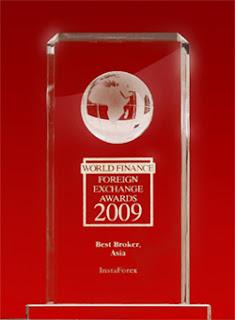 anugerah instaforex malaysia - the best broker in asia 2009