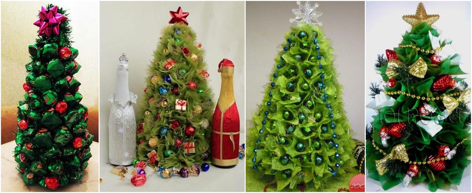 12 rboles navide os con dulces para ponerlo en la mesa - Comprar arboles de navidad decorados ...