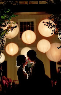 romantic wedding paper lanterns