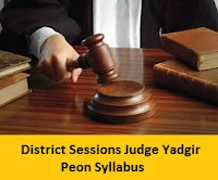 District Sessions Judge Yadgir Peon Syllabus
