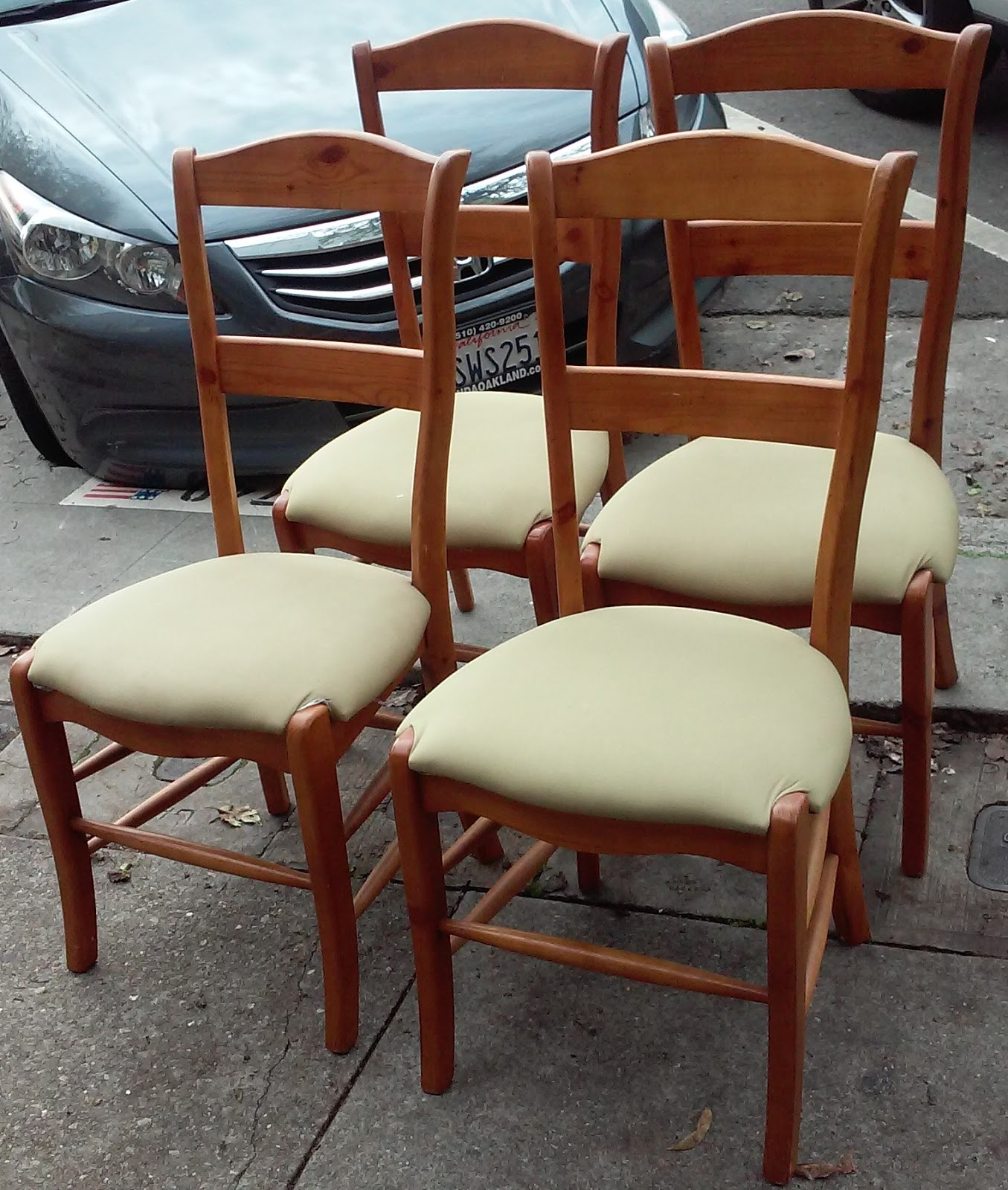 furniture collectibles sold 4 french country pine dining chairs