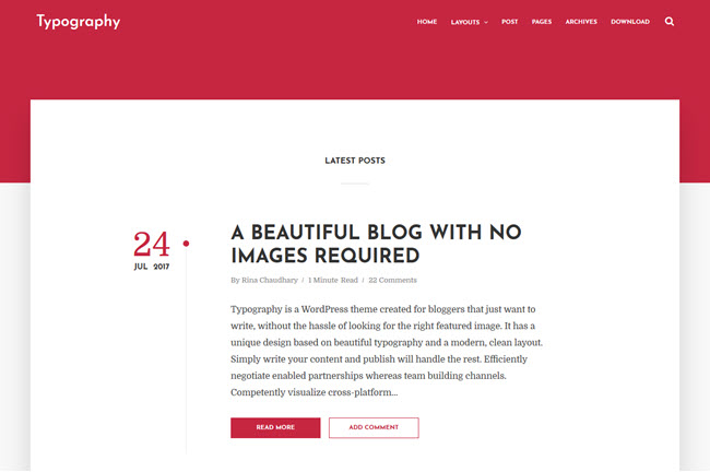 Typography – Responsive Blogger Template