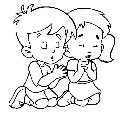 Praying coloring pictures for kids religious coloring for Prayer coloring pages