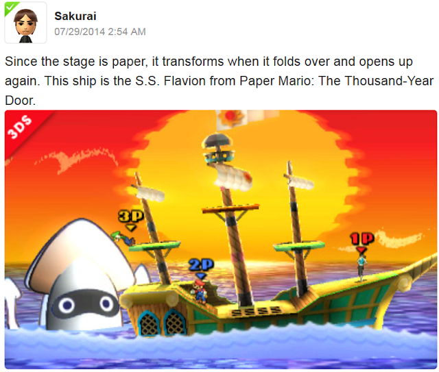 S.S. Flavion Paper Mario The Thousand-Year Door Super Smash Bros. For 3DS