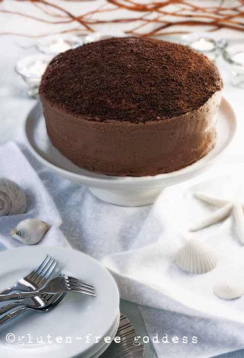 Karina's gluten-free chocolate layer cake