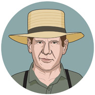 Testigo, 1985: JOHN BOOK: un oficial de policía que ingresa a la comunidad Amish para proteger a un niño.