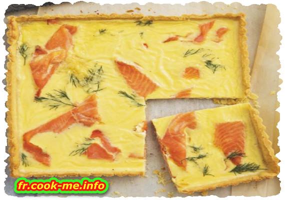 Quiche saumon et aneth