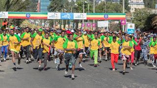 Ethiopia-group-running-in-the-Great Ethiopian-Run