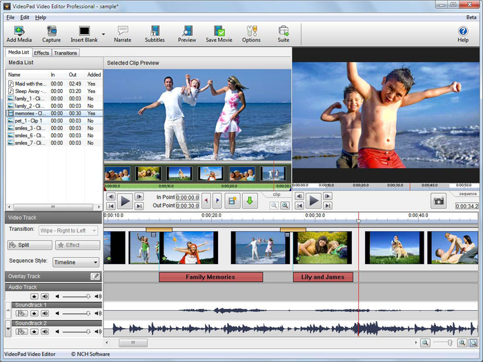 NCH VideoPad Video Editor 8.56 Beta Full Registration Code Crack