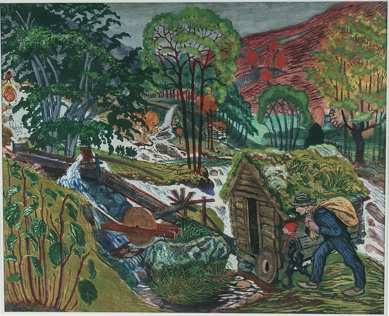 'Kvennagongsvatn' or 'Millstream.' Image: Courtesy of Nikolai-Astrup.no. Unauthorized use is prohibited.