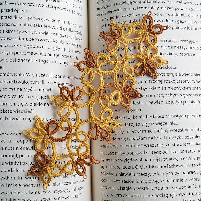 frywolitka igłowa, zakładka do książki